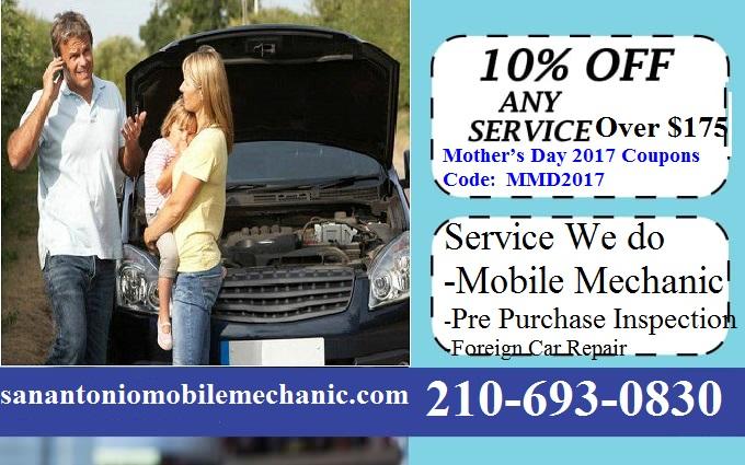 Mobile Auto Mechanic San Antonio Car Repair Coupons Discount Codes