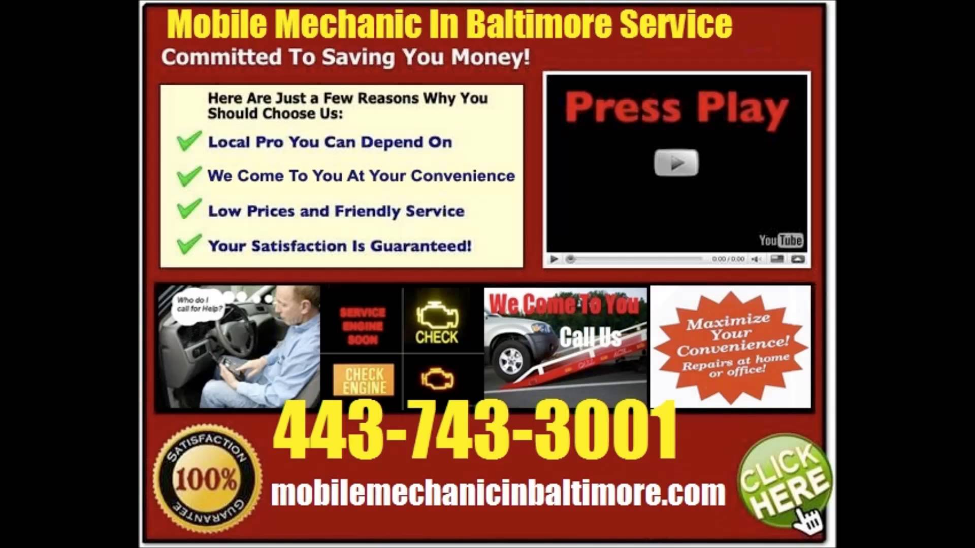 Find The Best Mobile Mechanic In Maryland